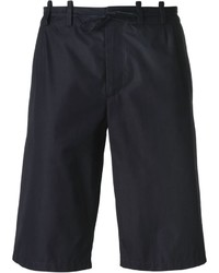 Pantalones cortos de algodón azul marino de Maison Margiela