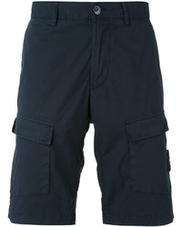 Pantalones cortos de algodón azul marino de Stone Island