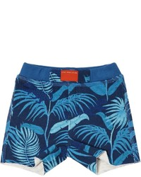 Pantalones cortos de algodón estampados azul marino de Little Marc Jacobs