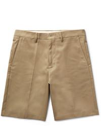 Pantalones cortos de algodón marrón claro de Acne Studios