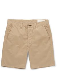 Pantalones cortos de algodón marrón claro de rag & bone