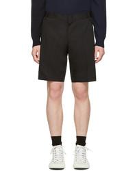Pantalones cortos de algodón negros de Lanvin