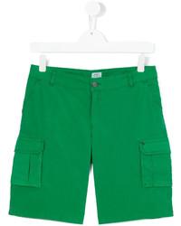 Pantalones cortos de algodón verdes de Armani Junior
