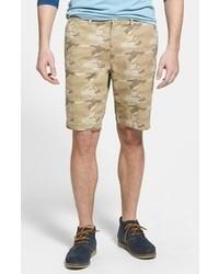 Pantalones cortos de camuflaje marrón claro