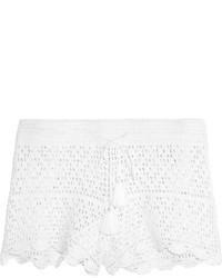 Pantalones cortos de crochet blancos de Tory Burch