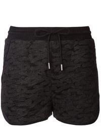 Pantalones cortos de crochet negros
