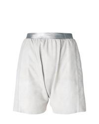 Pantalones cortos de cuero grises de Olsthoorn Vanderwilt