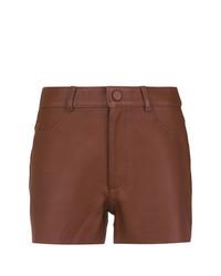 Pantalones Cortos de Cuero Marrónes de Nk