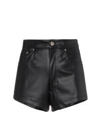 Pantalones Cortos de Cuero Negros de Blindness