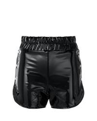 Pantalones Cortos de Cuero Negros de Danielle Guizio