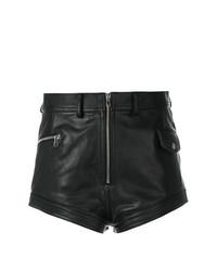 Pantalones Cortos de Cuero Negros de Diesel Black Gold