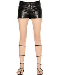 Pantalones cortos de cuero negros de Drome