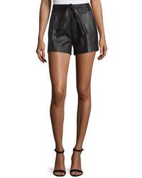 Pantalones cortos de cuero negros de IRO