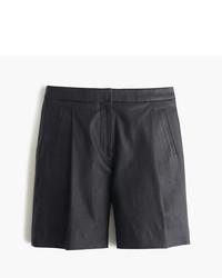 Pantalones cortos de cuero negros de J.Crew