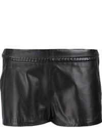 Pantalones cortos de cuero negros de Maison Margiela