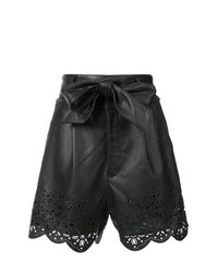 Pantalones Cortos de Cuero Negros de Marissa Webb