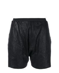 Pantalones Cortos de Cuero Negros de Olsthoorn Vanderwilt