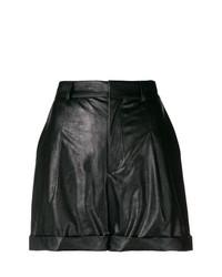 Pantalones Cortos de Cuero Negros de Philosophy di Lorenzo Serafini