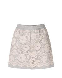 Pantalones Cortos de Encaje Beige de Miahatami