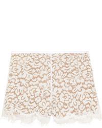 Pantalones cortos de encaje blancos de Michael Kors