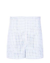 Pantalones Cortos de Encaje Celestes de Martha Medeiros