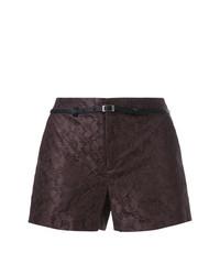 Pantalones cortos de encaje en marrón oscuro de Loveless