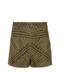 Pantalones Cortos de Encaje Marrónes de Martha Medeiros
