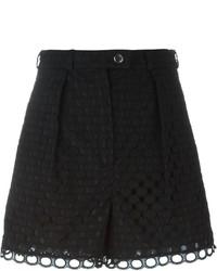 Pantalones cortos de encaje negros de Carven