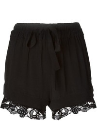 Pantalones cortos de encaje negros de IRO