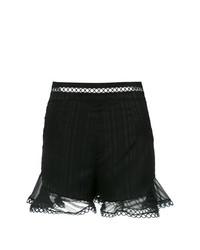 Pantalones Cortos de Encaje Negros de Olympiah