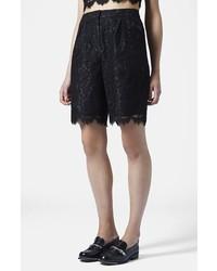 Pantalones Cortos de Encaje Negros de Topshop