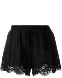 Pantalones cortos de encaje negros de Twin-Set