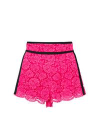 Pantalones cortos de encaje rosa de Philosophy di Lorenzo Serafini