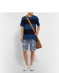 Junya Watanabe pantalones con motivo floral - Azul jZI5s