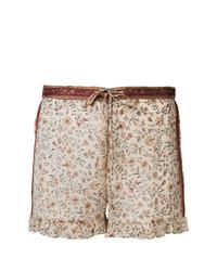 Pantalones Cortos de Flores Beige de Mes Demoiselles