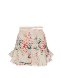 Pantalones Cortos de Flores Beige de Zimmermann