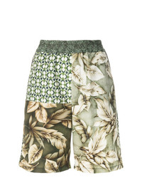 Pantalones Cortos de Flores Multicolor de Pierre Louis Mascia