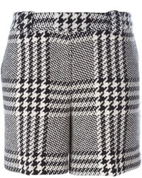 Pantalones cortos de lana a cuadros grises de Twin-Set