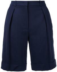 Pantalones Cortos de Lana Azul Marino de Michael Kors