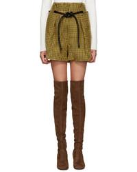 Pantalones cortos de lana mostaza de 3.1 Phillip Lim