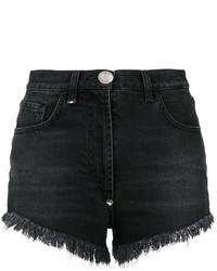 Pantalones cortos de lentejuelas negros de Philipp Plein