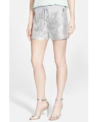 Pantalones cortos de lentejuelas plateados de MICHAEL Michael Kors