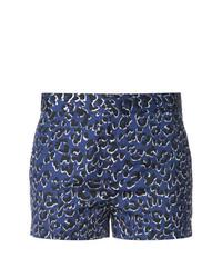 Pantalones cortos de leopardo azules de Barbara Bui