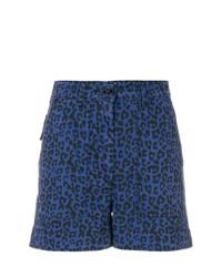 Pantalones cortos de leopardo azules de Tomas Maier