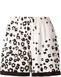 Pantalones cortos de leopardo en blanco y negro de Sea