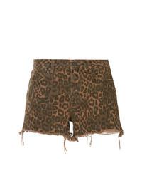 Pantalones Cortos de Leopardo Marrónes de T by Alexander Wang