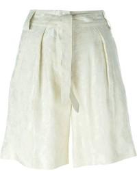 Pantalones Cortos de Lino Beige de Etro