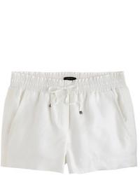 Pantalones cortos de lino blancos de J.Crew