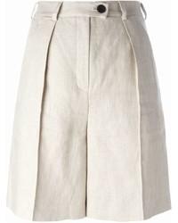 Pantalones cortos de lino en beige de Carven