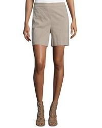Pantalones cortos de lino marrón claro de Theory
